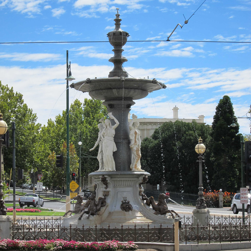 Alexandra fountain - you cannot miss it!